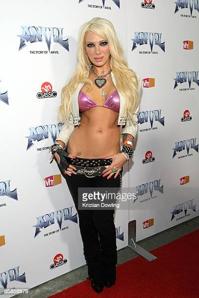 Daisy De La Hoya arrives for the premiere of 'Anvil The Story Of Anvil' at the Egyptian Theater on April 7 2009 in Los Angeles California