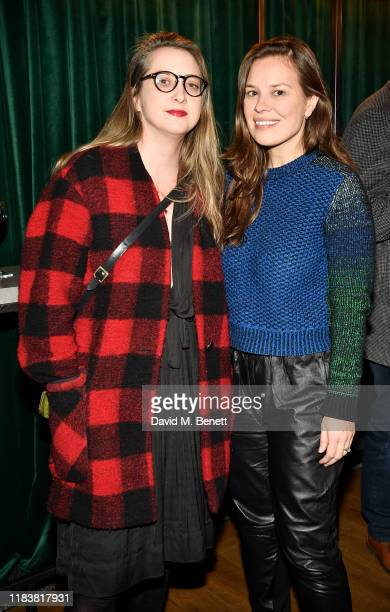 Daisy de Villeneuve and guest attend the Motherless Brooklyn BAFTA screening reception at Vue Leicester Square on November 21 2019 in London England