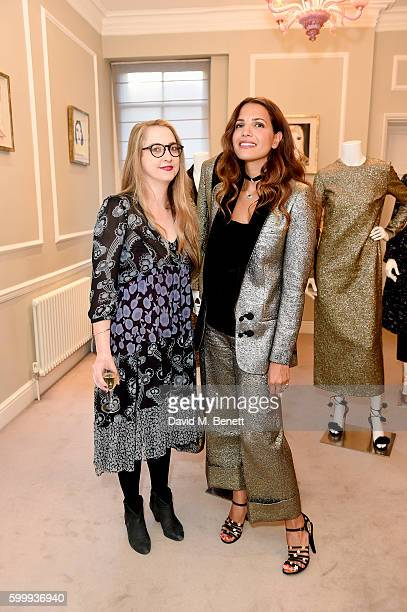 Daisy de Villeneuve and Racil Chalhoub attend a cocktail reception hosted by RACIL and MATCHESFASHIONCOM to celebrate the launch of Racil AW16...