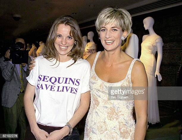 Daisy Donovan With Diana, Princess Of Wales At Christie's, New York, For A Pre-auction Party