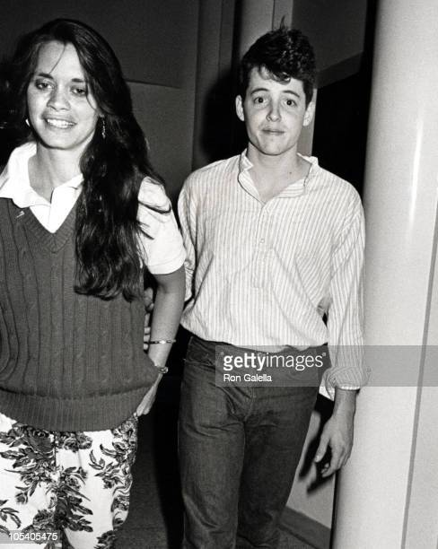 Daisy Foote and Matthew Broderick during Arriving at The Limelight After 'Bilouxi Blues' Performance at The Limelight in New York City New York...