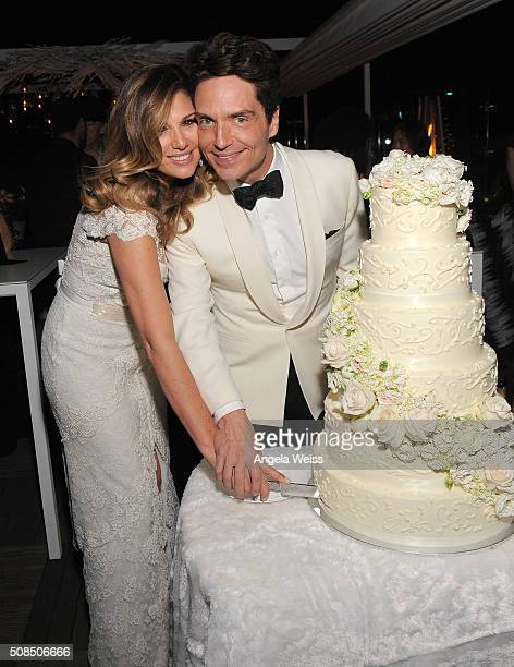 Daisy Fuentes and Richard Marx attend a Martin Katz designed event celebrating their wedding in the hotel's Penthouse Inspired by Vivienne WestwoodÓ...