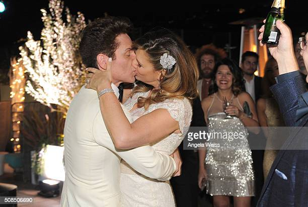 Daisy Fuentes and Richard Marx attend a Martin Katz designed event celebrating their wedding in the hotel's 'Penthouse Inspired by Vivienne WestwoodÓ...