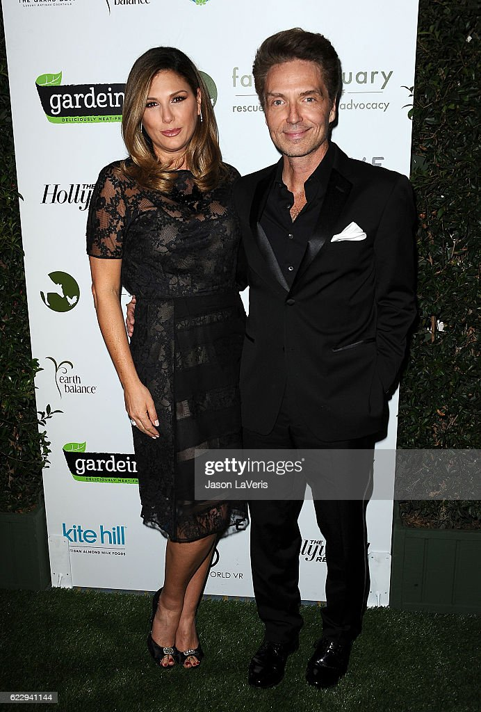 Daisy Fuentes and Richard Marx attend Farm Sanctuary's 30th anniversary gala at the Beverly Wilshire Four Seasons Hotel on November 12, 2016 in Beverly Hills, California.