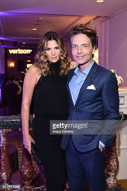Daisy Fuentes and Richard Marx attend the The Paley Center for Media's Hollywood Tribute to Hispanic Achievements in Television at the Beverly...