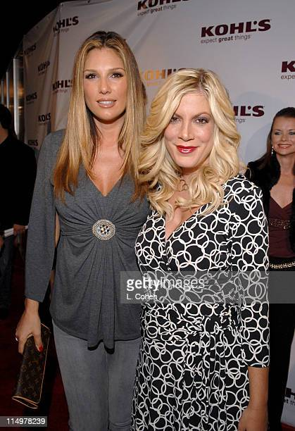 Daisy Fuentes and Tori Spelling during Kohl's and Conde Nast Host Kohl's Transformation Nation Fall Fashion Show Red Carpet at Santa Monica Pier in...