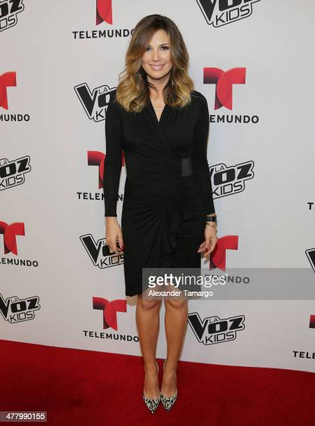 Daisy Fuentes attends Telemundo Press Conference to Launch 'La Voz Kids' at JW Marriott Marquis on March 11 2014 in Miami Florida