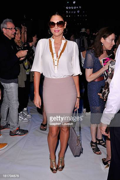 Daisy Fuentes attends the Carlos Miele Spring 2013 fashion show during MercedesBenz Fashion Week at The Stage at Lincoln Center on September 10 2012...