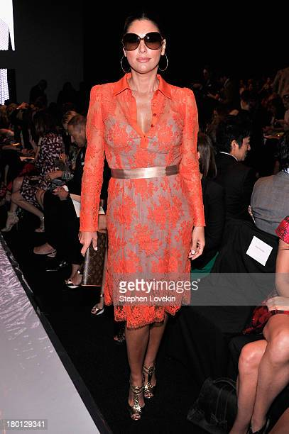 Daisy Fuentes attends the Carolina Herrera fashion show during MercedesBenz Fashion Week Spring 2014 at The Theatre at Lincoln Center on September 9...