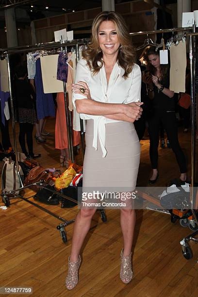Daisy Fuentes backstage at her Fashion Show at Metropolitan Pavilion on September 13 2011 in New York City