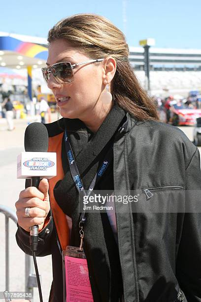 Daisy Fuentes doing interviews for Sirius Satellite Radio at the Nextel Cup Series Samsung 500 at Texas Motor Speedway in Ft Worth Texas on April 15...