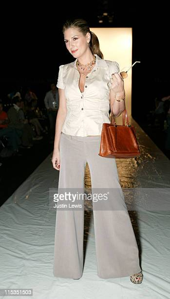 Daisy Fuentes during MercedesBenz Spring 2005 Fashion Week at Smashbox Studios Eduardo Lucero Front Row at Smashbox Studios in Culver City Califonia...