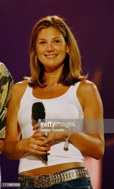 Daisy Fuentes during The 2002 Miss Universe Rehearsals at Roberto Clemente Colliseum in San Juan Porta Rico Puerto Rico