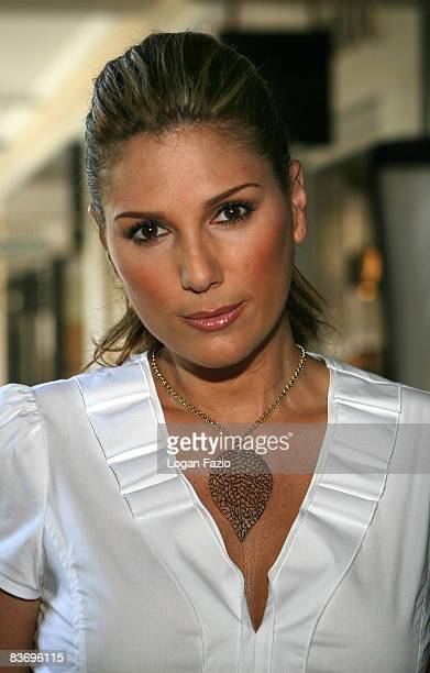 Daisy Fuentes poses during a photo shoot to promote her fashion line available exclusively at Kohl's Department Stores on November 14 2008 in Coral...