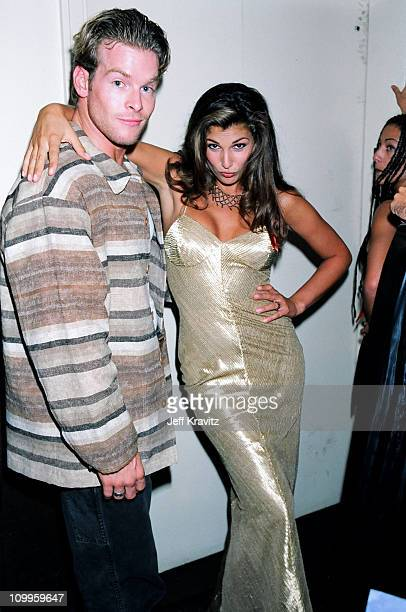 Daisy Fuentes right during 1994 MTV Video Music Awards at Radio City Music Hall in New York City New York United States