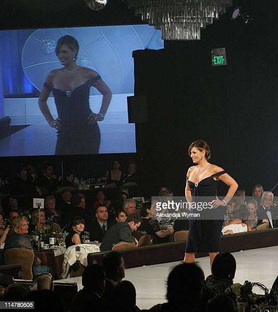 Daisy Fuentes walks the runway at St Jude's 5th Annual Runway for Life Benefit Presented by Disney's 'Tinker Bell' at the Beverly Hilton Hotel on...