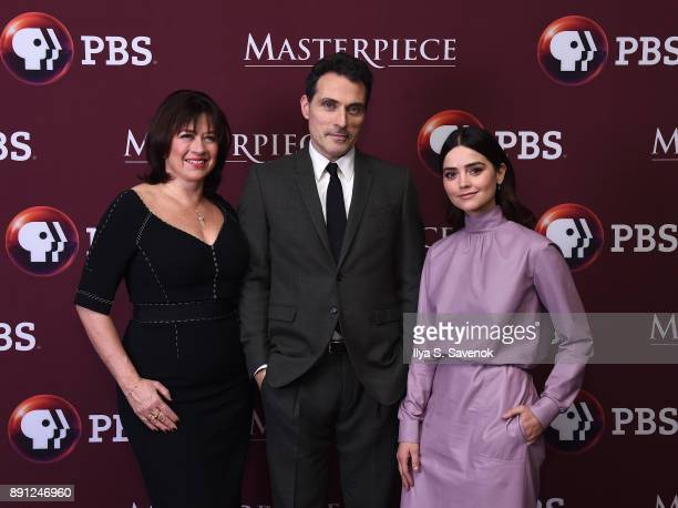Daisy Goodwin Rufus Sewell and Jenna Coleman attend 'Victoria' Season 2 Premiere on Masterpiece on PBS on December 12 2017 in New York City