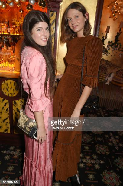 Daisy Hoppen and Victoria Sekrier attend the Nick Cave The Bad Seeds x The Vampires Wife x Matchesfashioncom party at Loulou's on November 22 2017 in...
