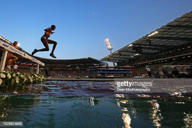 Daisy Jepkemei of Kenya competes in the Women's 3000m steeplechase race during the IAAF Diamond League AG Memorial Van Damme at King Baudouin Stadium...