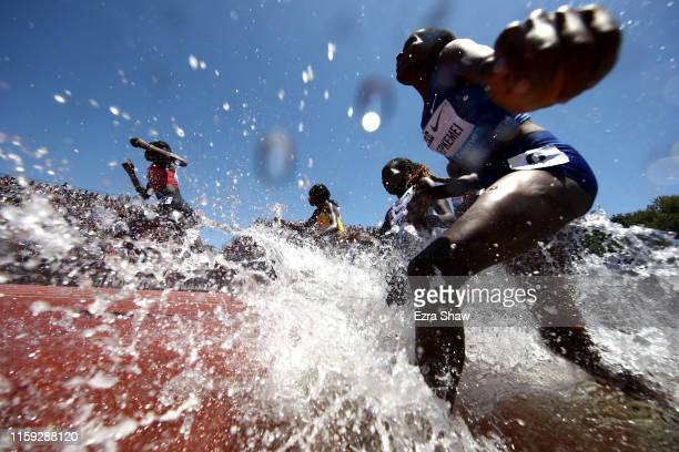 Daisy Jepkemei of Kenya competes in the women's 3000m steeplechase during the Prefontaine Classic at Cobb Track & Angell Field on June 30, 2019 in...