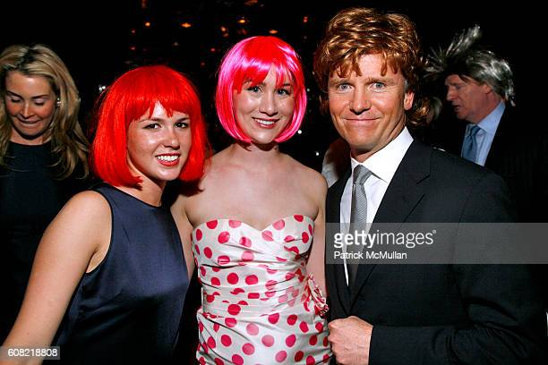 Daisy Johnson Annabel Teal and Christopher Johnson attend WOODY JOHNSON's Wig Out 60th Birthday Party at Doubles on April 12 2007 in New York City