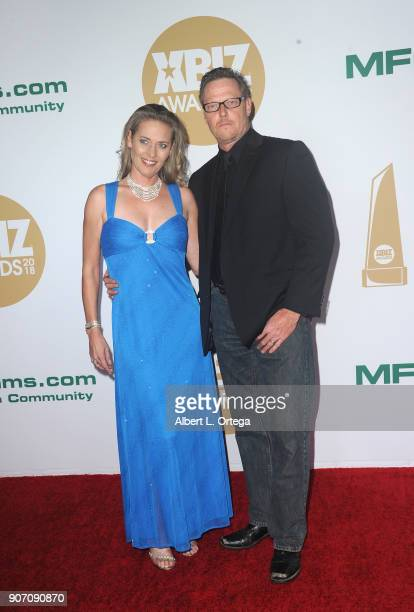Daisy Lane and Dick Chibbles arrive for the 2018 XBIZ Awards held at JW Marriot at LA Live on January 18 2018 in Los Angeles California