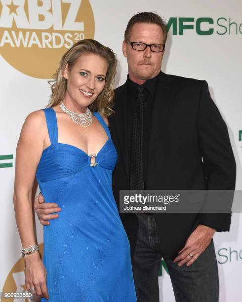 Daisy Lane and Dick Chibbles attend the 2018 XBIZ Awards on January 18 2018 in Los Angeles California