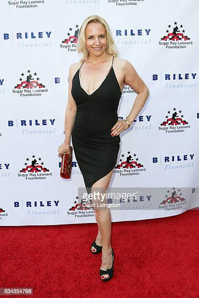 Daisy Lang arrives at the 7th Annual Big Fighters Big Cause Charity Boxing Night Benefiting The Sugar Ray Leonard Foundation at The Ray Dolby...