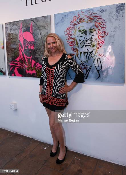 Daisy Lang arrvies at Val Kilmer's PopUp Art Exhibition 'Icon Go On I'll Go On' VIP Opening Reception at The Gabba Gallery on July 20 2017 in Los...