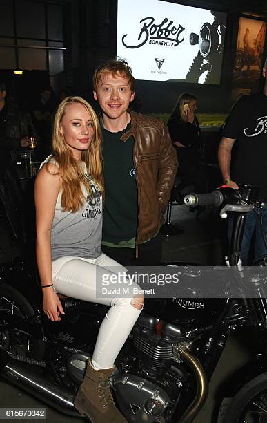 Daisy Lea Germaine and Rupert Grint attend the Global VIP Reveal of the new Triumph Bonneville Bobber on October 19 2016 in London England