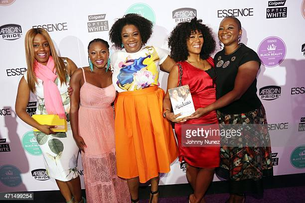 Daisy Lewellyn Naturi Naughton Adrienne C Moore Miko Branch and Vanessa K De Luca attend the ESSENCE 2015 Best In Black Beauty Awards at 404 NYC on...