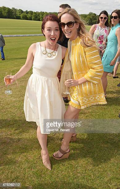 Daisy Lewis and Joanne Froggatt attend day one of the Audi Polo Challenge at Coworth Park on May 30 2015 in London England