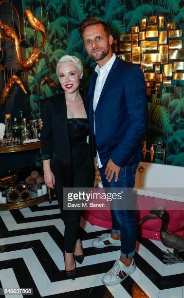 Daisy Lewis and Maurizio Pellizzoni attend the 'Designed At Talisman' designer exhibition during the London Design Festival 2017 at Talisman New...