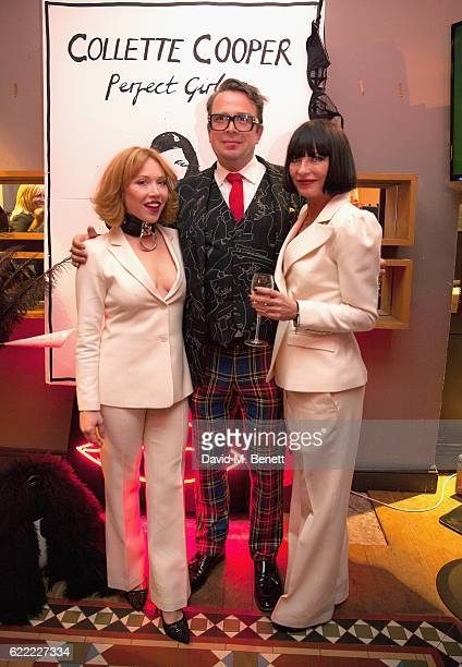 Daisy Lewis Gresham Blake and Collette Cooper attend the launch of Collette Cooper's new single 'Perfect Girl' and the 'Collette' suit collaboration...
