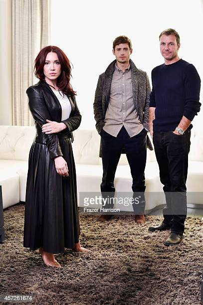 Daisy Lewis Julian Morris Chris Vance attend Screen International LA Stars at the Viceroy Hotel on October 14 2014 in Santa Monica California
