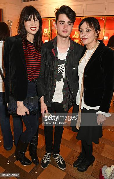 Daisy Lowe Alfie Goffey and Pearl Lowe attend the relaunch of the Harrods Toy Kingdom on October 25 2015 in London England