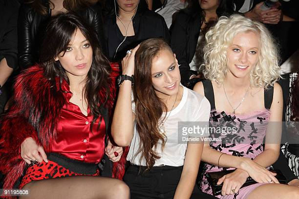 Daisy Lowe Alice Dellal and Portia Freeman attend the Dolce Gabbana show as part of Milan Womenswear Fashion Week Spring/Summer 2010 on September 27...