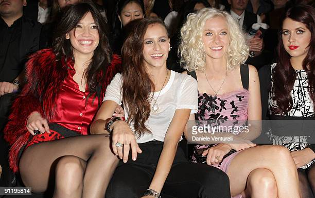 Daisy Lowe Alice Dellal Portia Freeman and Peaches Geldof attend the Dolce Gabbana show as part of Milan Womenswear Fashion Week Spring/Summer 2010...