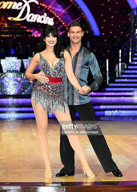 Daisy Lowe and Aljaz Skorjanec attend the Strictly Come Dancing Live Tour Photocall on January 19 2017 in Birmingham England