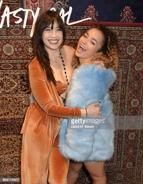 Daisy Lowe and ELLA EYRE attend Nasty Gal UK Pop Up Launch Party on Carnaby Street on November 1 2017 in London England