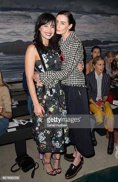 Daisy Lowe and Erin O'Connor attend the Erdem show during London Fashion Week Spring/Summer collections 2016/2017 on September 19 2016 in London...
