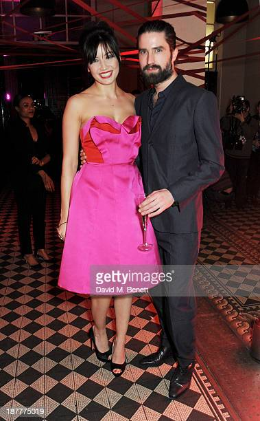 Daisy Lowe and Jack Guinness attend the Tunnel of Love fundraiser in aid of the British Heart Foundation at One Mayfair on November 12 2013 in London...