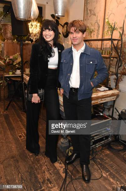 Daisy Lowe and Jack Peñate attend the R.M.Williams x Marc Newson collaboration launch dinner on October 22, 2019 in London, England.