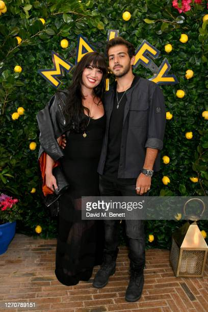 Daisy Lowe and Jordan Saul attend the launch of the Ned's Club X Malfy Gin partnership at Ned's Club on September 05 2020 in London England