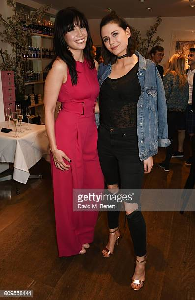 Daisy Lowe and Lilah Parsons attend the launch of London Fashion Weekend hosted by Daisy Lowe in association with the British Fashion Council at...
