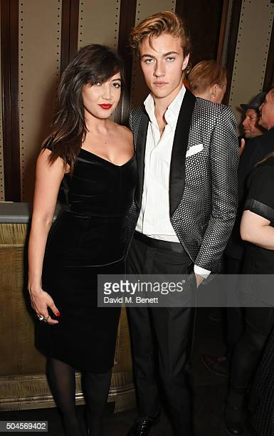 Daisy Lowe and Lucky Blue Smith attend the London Collections Men AW16 closing dinner hosted by GQ editor Dylan Jones and LCM Ambassadors at Sartoria...