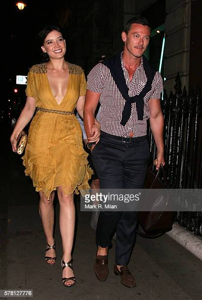 Daisy Lowe and Luke Evans sighting on July 20 2016 in London England