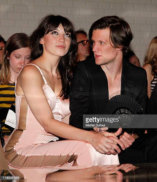 Daisy Lowe and Matt Smith attend the Jean Paul Gaultier Haute Couture Fall/Winter 2011/2012 show as part of Paris Fashion Week on July 6, 2011 in...