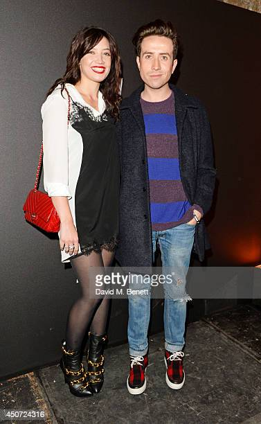 Daisy Lowe and Nick Grimshaw attend the Harvey Nichols presentation of #BEENTRILL# designer collaboration during London Collections Men at The Vaults...
