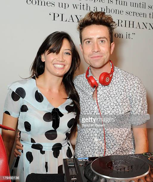 Daisy Lowe and Nick Grimshaw attend the launch of Alexa Chung's first book It at Liberty on September 4 2013 in London England